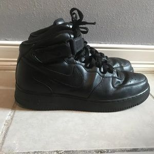 Nike Air Force 1 Mid Black Men's Sz 12